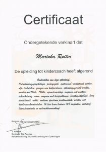 Certificaat Kindercoach